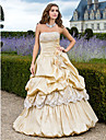 TS Couture Prom Formal Evening Quinceanera Sweet 16 Dress - Vintage Inspired A-line Ball Gown Princess Strapless Floor-length Taffeta with