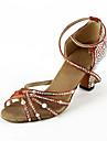 Scarpe da ballo - Non personalizzabile - Donna - Latinoamericano / Sala da ballo - Tacco a rocchetto - Satin - Marrone