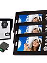 Wireless Night Vision Camera with 7 Inch Door Phone Monitor (1camera 3 monitors)
