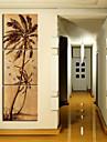 modern stil natursköna väggklocka i canvas 3st k0149