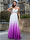 Prom / Formal Evening / Military Ball Dress - Multi-color Plus Sizes / Petite Sheath/Column Strapless / Sweetheart Floor-length Chiffon