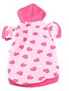 Hundar Huvtröjor / T-shirt / Pyjamas Rosa Hundkläder Vinter Hjärtan