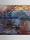 Peint a la main Celebre / Paysages Abstraits Un Panneau Toile Peinture a l\'huile Hang-peint For Decoration d\'interieur