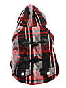 Dog Hoodie / Clothes/Clothing Red / Blue Winter Plaid/Check