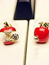 Women\'s Mini Apple Studs(Diameter:0.8cm)
