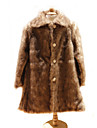 Kids\' Wraps / Fur Wraps / Fur Coats Coats/Jackets Long Sleeve Faux Fur Brown Wedding / Party/Evening Button / Ruched Clasp