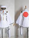 Inspirerad av Vocaloid Hatsune Miku Video Spel Cosplay Kostymer/Dräkter cosplay Suits / Kimono Vit Lång ärmKappa / Kjol / Hatt / Vantar /