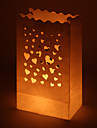 Wedding Décor Nice Heart Cut-out Paper Luminary (Set of 4)