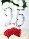 Vârfuri de Tort Nepersonalizat Crom Aniversare / Zi de Naștere Ștras Argintiu Temă Clasică Sac PVC