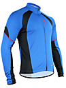 Santic Men\'s Cycling Jersey Long Sleeve Breathable+Quick-Drying Blue Polyester+Mesh Cycling Jacket For Men C01012B