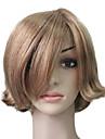 Capless 100% Echthaar Golden Blonde kurzes, krauses Haar Peruecke