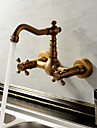 Robinets pour Evier Sprinkle®  ,  Antique / Traditionnel  with  Laiton antique 2 poignees 2 trous  ,  Fonctionnalite  for Jet pluie