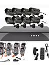 8CH Kit DVR CCTV Securite pour la maison (8 camera exterieure impermeable a l\'eau)