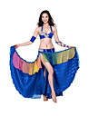 Performance Dancewear Satin and Spandex with Crystal Belly Dance Outfits For Ladies More Colors