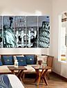 moderne scenique toile horloge murale 5pcs K024