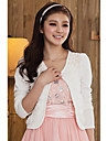 Nice Long Sleeve Sweater Casual/Office Wrap/Evening Jacket With Pearls & Flowers (More Colors) Bolero Shrug