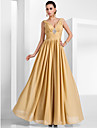 TS Couture® Formal Evening / Military Ball Dress - Elegant Plus Size / Petite A-line / Princess V-neck Floor-length Chiffon withDraping / Crystal