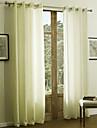 twopages® deux panneaux solide pur rideau de chenille classique
