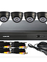 4 Channel CCTV DVR System(UPNP,4 Indoor Camera)