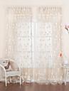 twopages® två paneler blommig jacquard land ren gardin