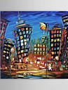 Peint a la main Paysage / Paysages Abstraits Un Panneau Toile Peinture a l\'huile Hang-peint For Decoration d\'interieur