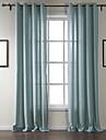 anti ™ två paneler genomföring topp klassiska fast gardin drapera