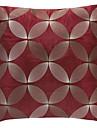 Moderna röda broderier Polyester dekorationskudde Cover