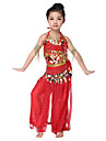 Dancewear Chiffons with Coin Belly Dance Outfits Top and Belt and Skirt For Children More Color