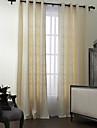 (Två paneler) moderna polyester bomull blanda fast miljövänligt gardinuppsättning