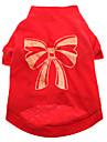 Hundar T-shirt Röd Hundkläder Sommar Rosett