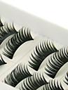 10 paires noir main de fibre de cils faux cils