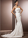 Lanting Bride® Trumpet / Mermaid Petite / Plus Sizes Wedding Dress - Chic & Modern / Glamorous & Dramatic / ReceptionVintage Inspired /