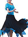 Latin Dance Skirts Women\'s Training Chiffon As Picture Modern Dance Natural
