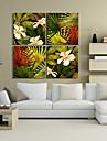 Canvas Art Floral botanico e folhas Conjunto de 4