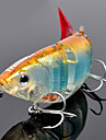 Trulinoya-Hard Bait Four-section Minnow 110mm/27g Slow Sinking Fishing Lure (Random Color)