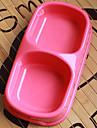 plast sällskapsdjur dubbel skål för hundar katter (blandade färger, storlekar)