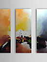Hand Painted Oil Painting Abstract with Stretched Frame Set of 3 1309C-AB0818