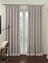 moderna två paneler fasta beige vardagsrum linne / polyester blandning panelgardiner draperier
