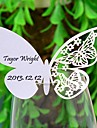 Place Cards and Holders Delicate Butterly Laser-cut Card For Wine Galss (Set of 12)