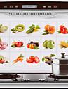 75x45cm frukt& grönsaker mönster oljesäker vattentät varmsäker köksväggen klistermärke