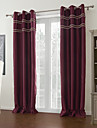 två paneler burgundy fast moderna rum mörkare gardin