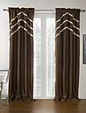 twopages® två paneler fast brun moderna mörkläggningsgardin