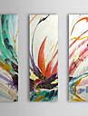 Hand Painted Oil Painting Abstract With Stretched Frame Set of 3 1308-AB0561