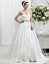 Lan Ting A-line/Princess Plus Sizes Wedding Dress - Ivory Court Train Sweetheart Taffeta