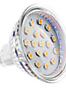 4W GU5.3(MR16) LED-spotlights MR16 15 SMD 2835 300 lm Varmvit DC 12 V