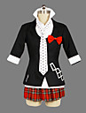 Inspirerad av Dangan Ronpa Junko Enoshima Video Spel Cosplay dräkter cosplay Suits / Skoluniformer Lappverk Svart Kort ärmKappa / Skjorta