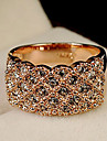 Ring Fashion Party Jewelry Alloy / Rhinestone Women Band Rings 1pc,One Size Gold