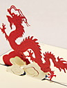 "Three-dimensional ""Dragon In Cloud"" Greeting Card (More Colors)"