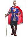 Costumes de Cosplay Costume de Soiree Prince Conte de Fee Fete / Celebration Deguisement d\'Halloween Bleu MosaiqueHaut Pantalon Manteau
