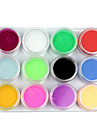 12 Mix Colors Acrylic Powder Builder Nail Art Set